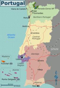 Regios NUTS II Portugal