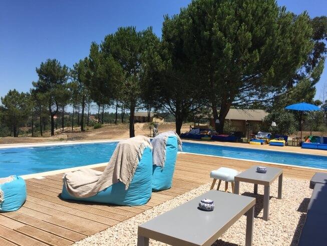 Nieuw zwembad bij glamping quinta dos corgos