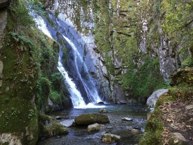 Fraga da Pena watervallen gemeente Arganil Centraal Portugal, Midden Portugal