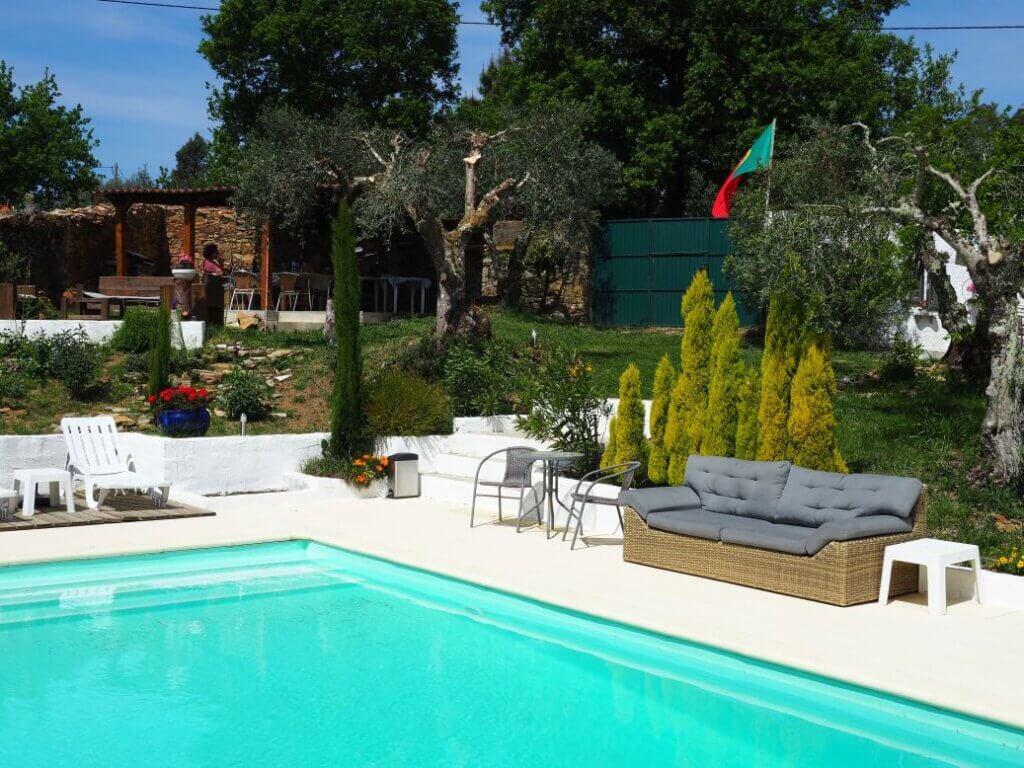 Porturama Bed en Breakfast Mouronho Midden Portugal zwembad
